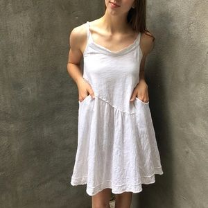 Anthro Left Of Center White Tank Dress